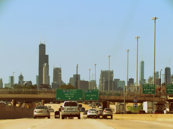 Obligatory skyline shot. The Sears Tower is the really tall building. Moving on.